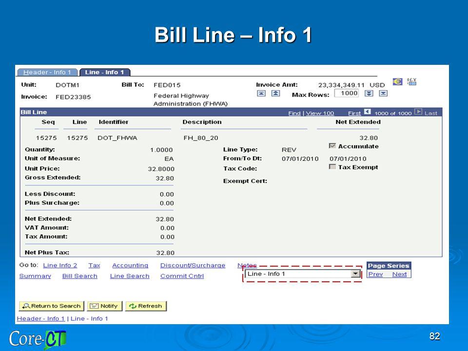 82 Bill Line – Info 1