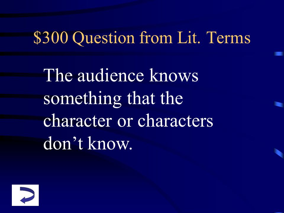 $300 Question from Lit.