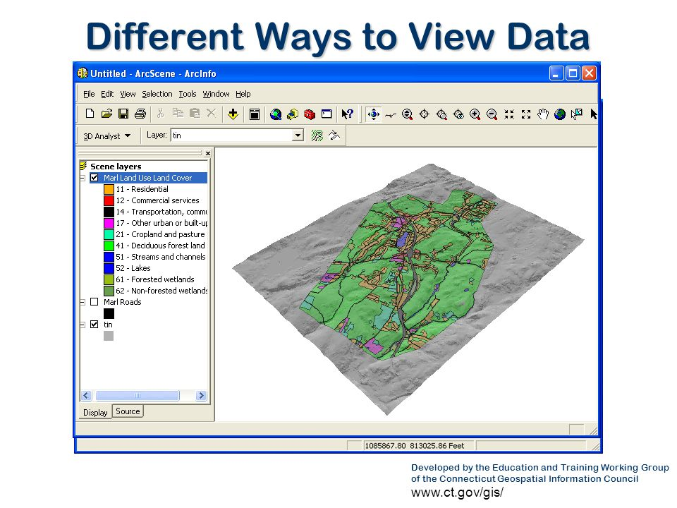 Developed by the Education and Training Working Group of the Connecticut Geospatial Information Council www.ct.gov/gis/ GIS in Academia – Data Development