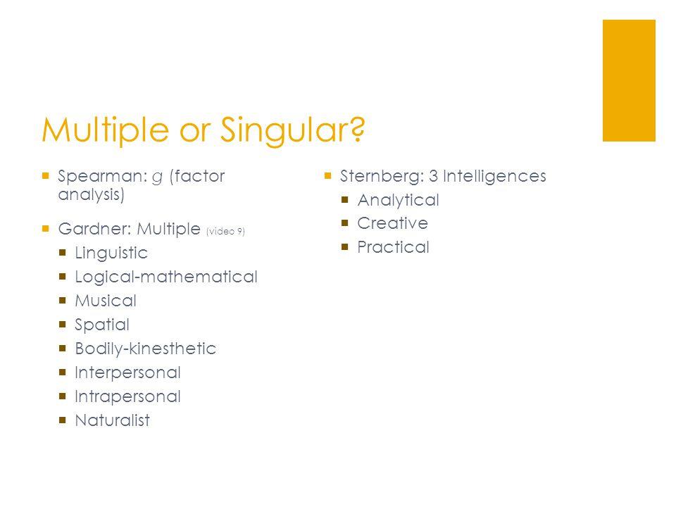 Multiple or Singular.