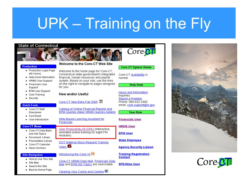 UPK – Training on the Fly