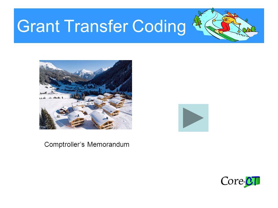 Grant Transfer Coding Comptroller's Memorandum