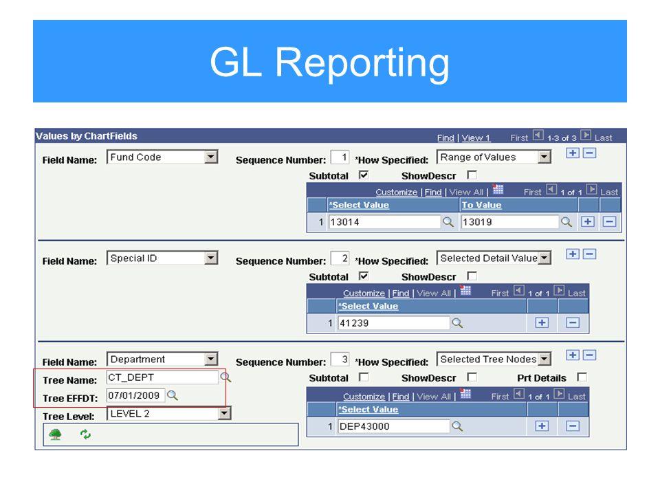 GL Reporting