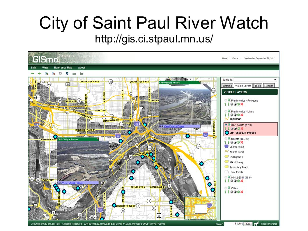 City of Saint Paul River Watch http://gis.ci.stpaul.mn.us/