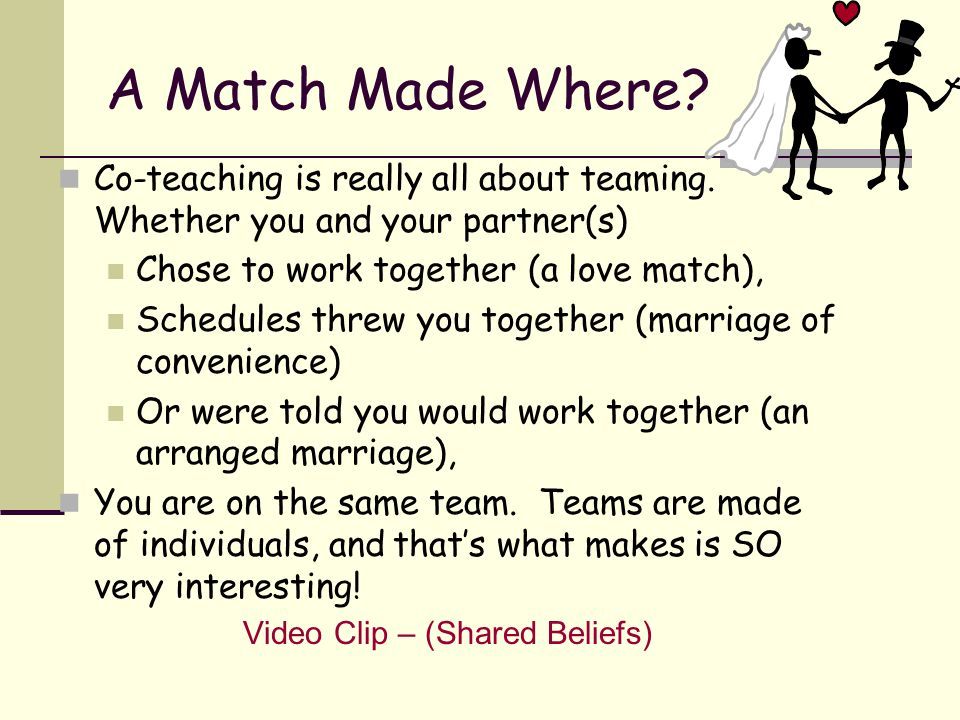 Sooooo, … exactly what are we talking about? Video Clip – (Co-Teaching Defined)