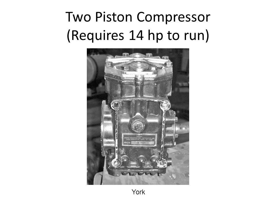 Two Piston Compressor (Requires 14 hp to run) York