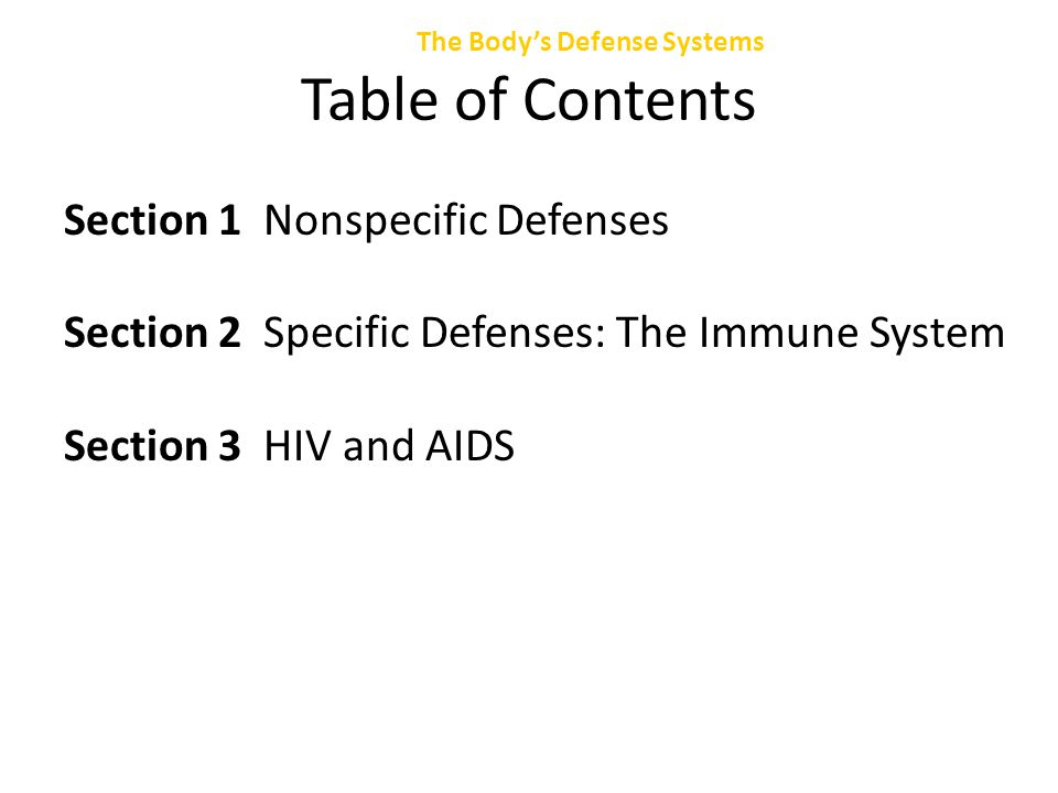 Section 2 Specific Defense: The Immune System Chapter 47 The Immune System, continued The specialized cells of the immune system are called lymphocytes.