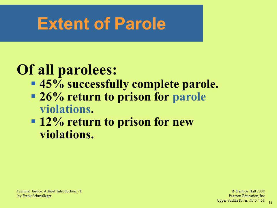 © Prentice Hall 2008 Pearson Education, Inc Upper Saddle River, NJ 07458 Criminal Justice: A Brief Introduction, 7E by Frank Schmalleger 14 Extent of