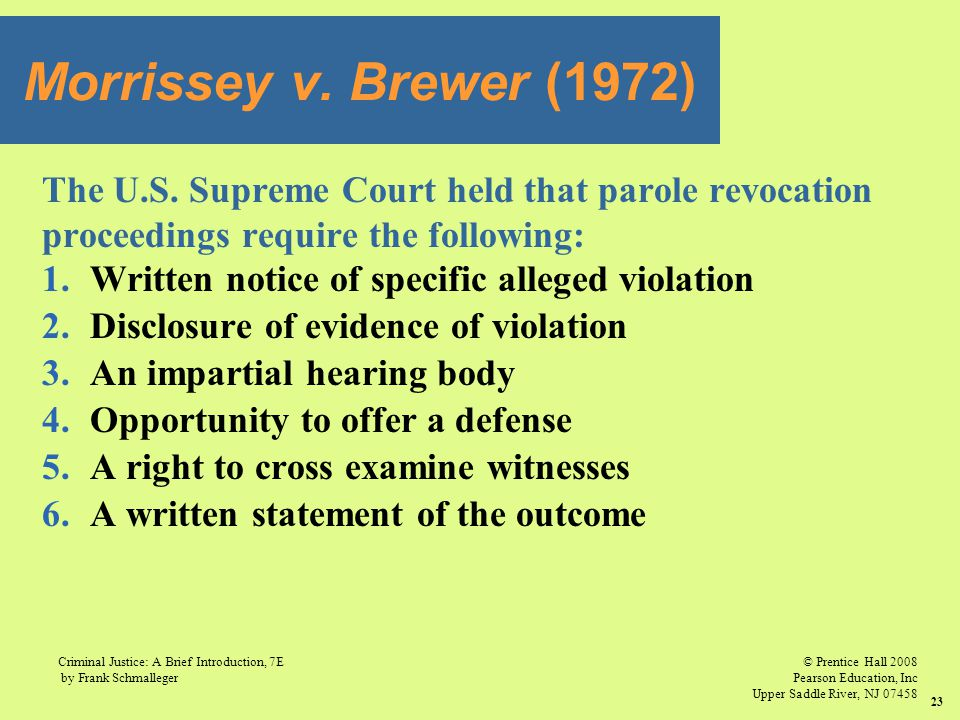 © Prentice Hall 2008 Pearson Education, Inc Upper Saddle River, NJ 07458 Criminal Justice: A Brief Introduction, 7E by Frank Schmalleger 23 The U.S. S