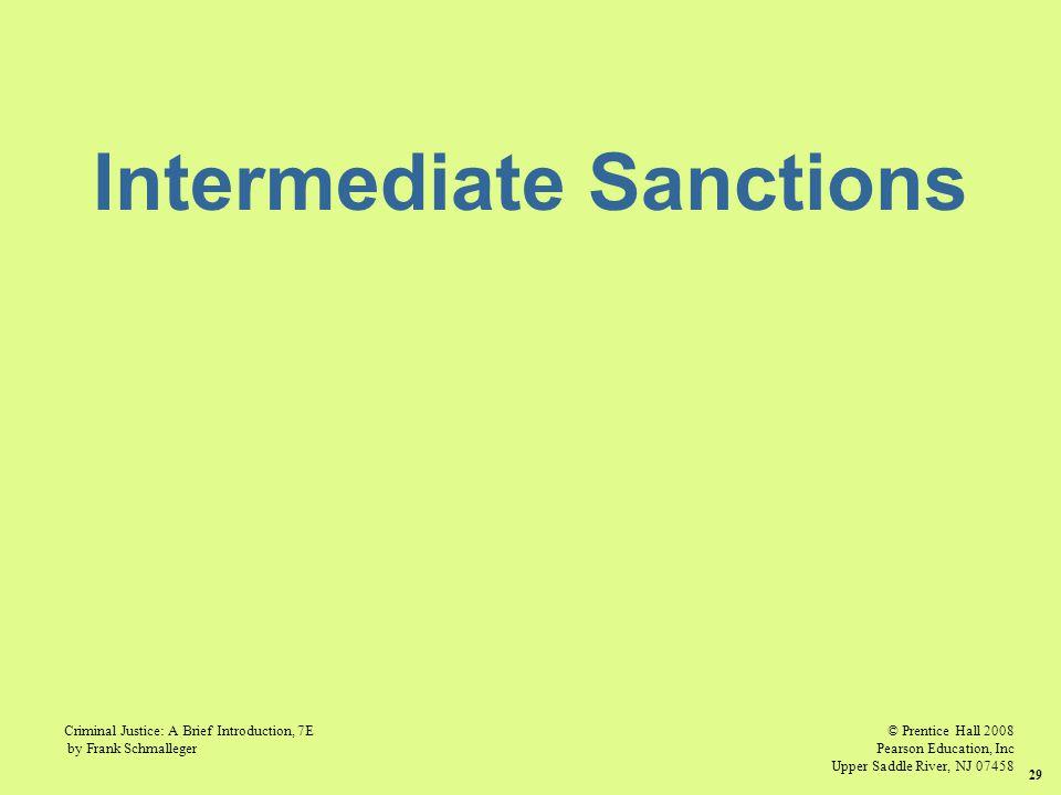 © Prentice Hall 2008 Pearson Education, Inc Upper Saddle River, NJ 07458 Criminal Justice: A Brief Introduction, 7E by Frank Schmalleger 29 Intermedia