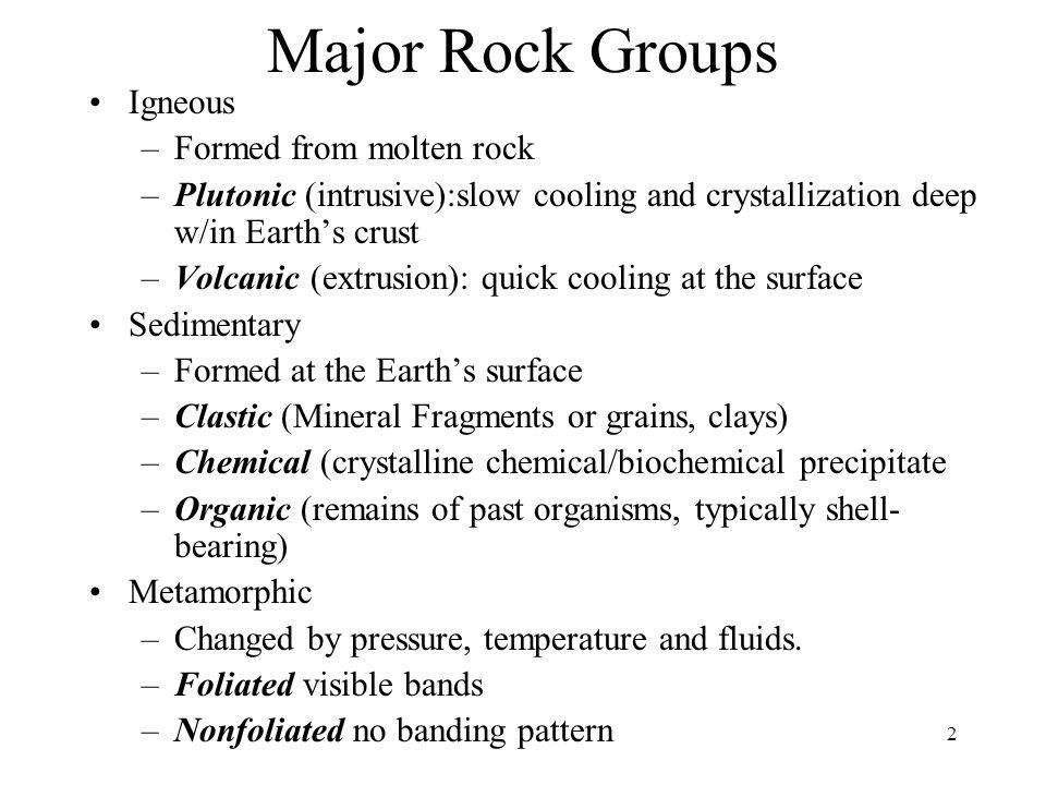 13 MAGMA Volcanic IGNEOUS Plutonic SEDIMENT SEDIMENTARY METAMORPHIC Uplift Burial Increased P&T Melting Crystallization Weathering Erosion Transport Deposition