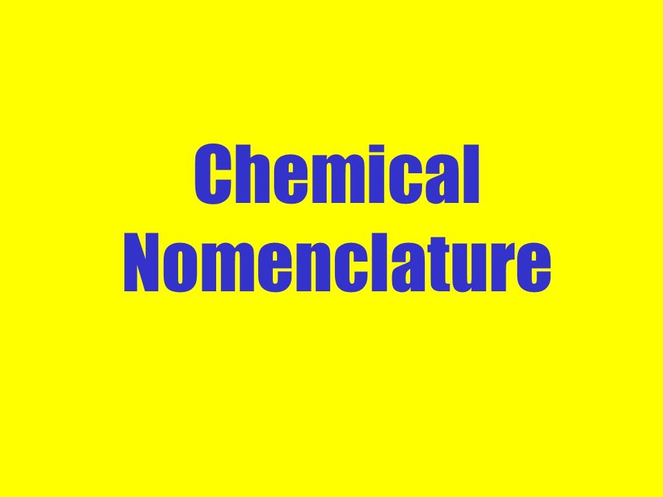 How to Name Ionic Formulas