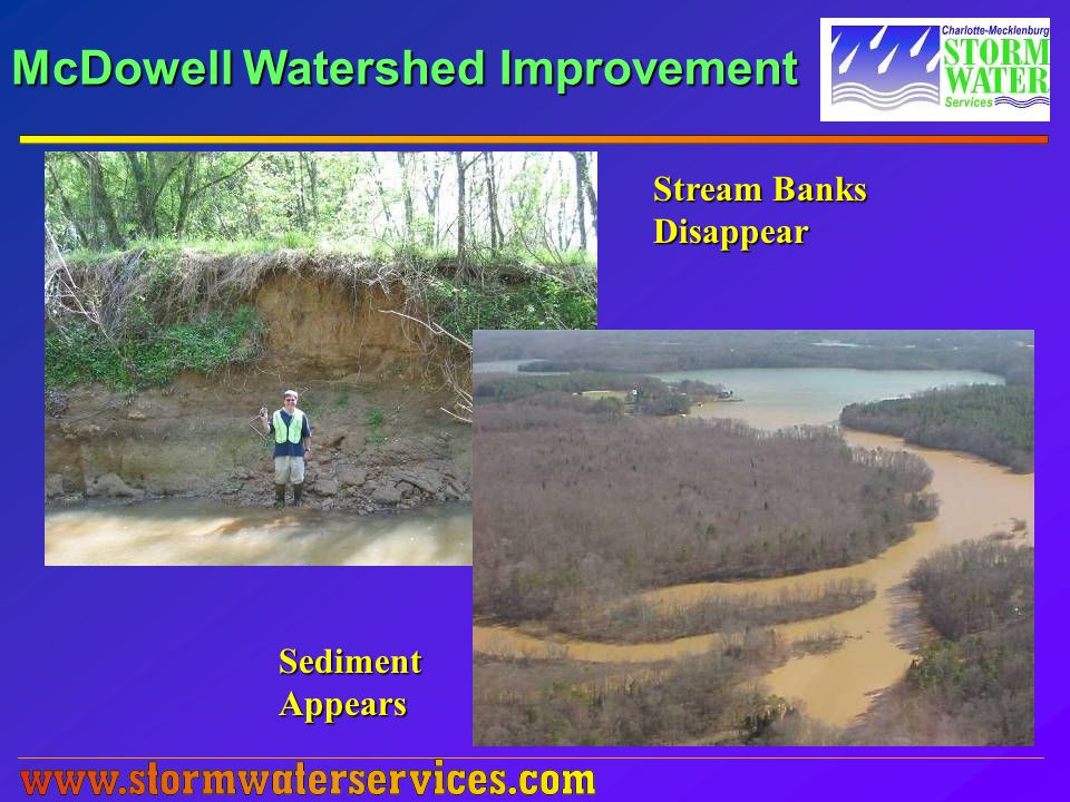 McDowell Watershed Improvement Stream Banks Disappear SedimentAppears