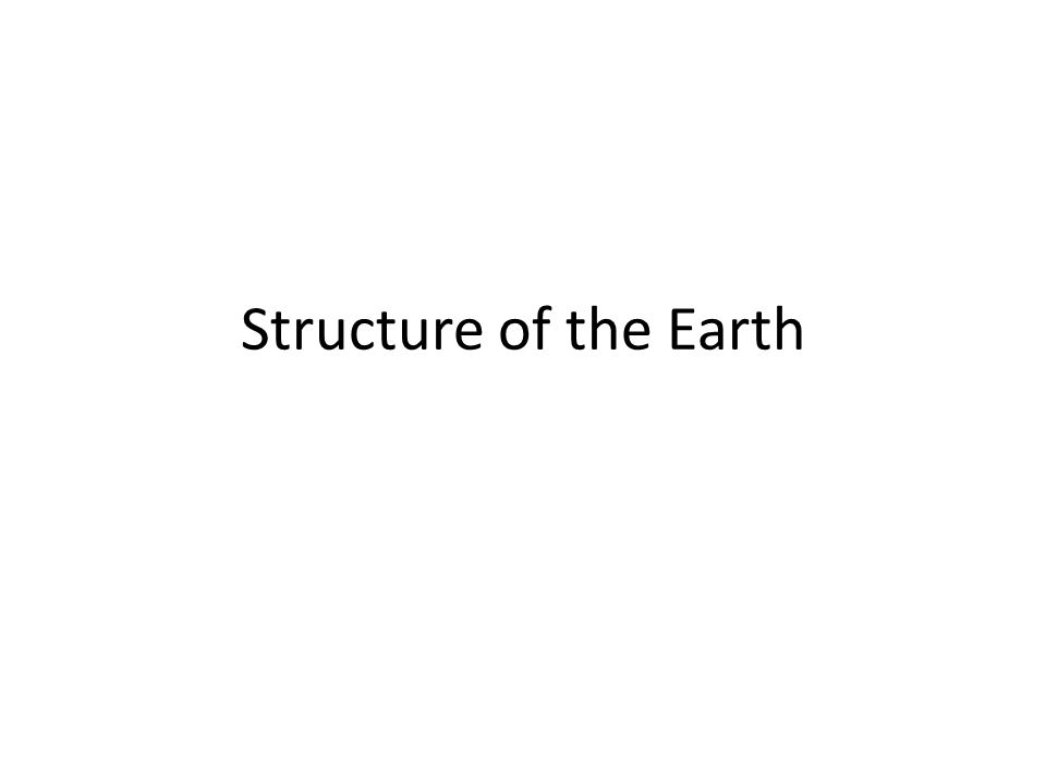Earth's Compositional Layers
