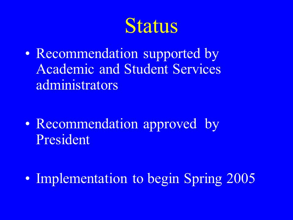 Findings - Late Enrollments … retention and student performance significantly improve once the policy (late registration) is abolished. Roueche and Roueche 1993