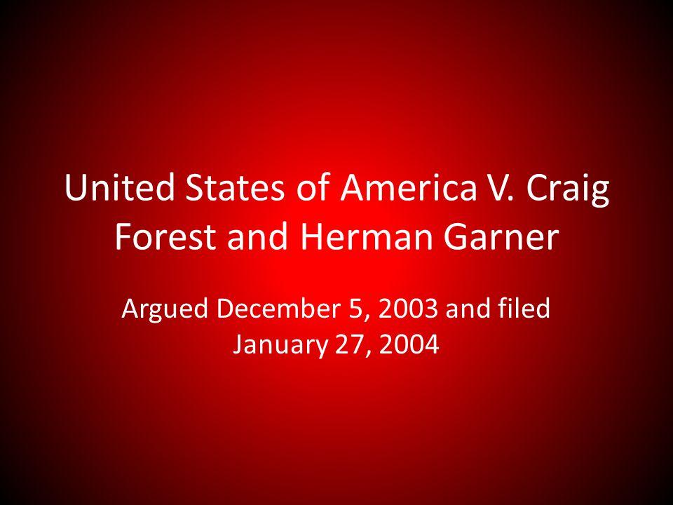 United States of America V.