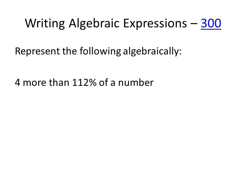 Simplifying – 400400 Simplify: 3 + 2(4x + 1) – 9x