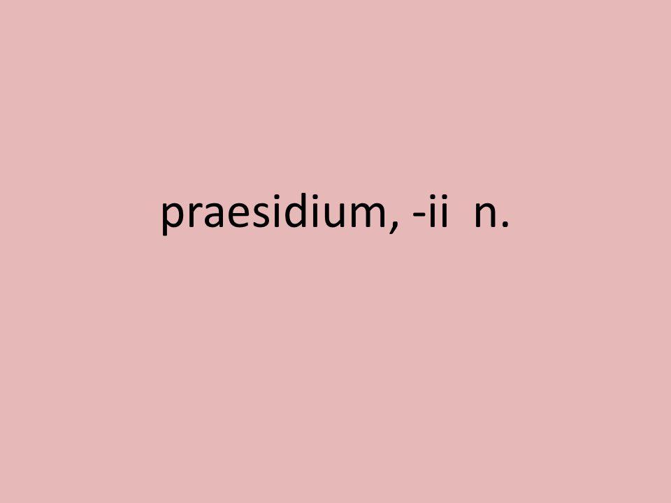 praesidium, -ii n.