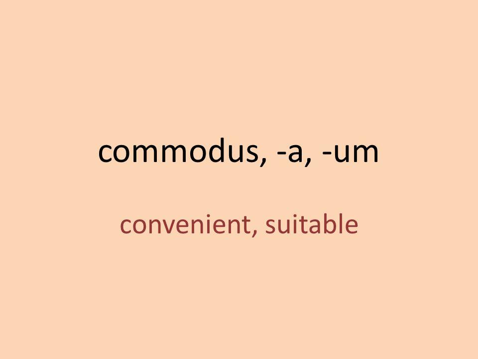 convenient, suitable
