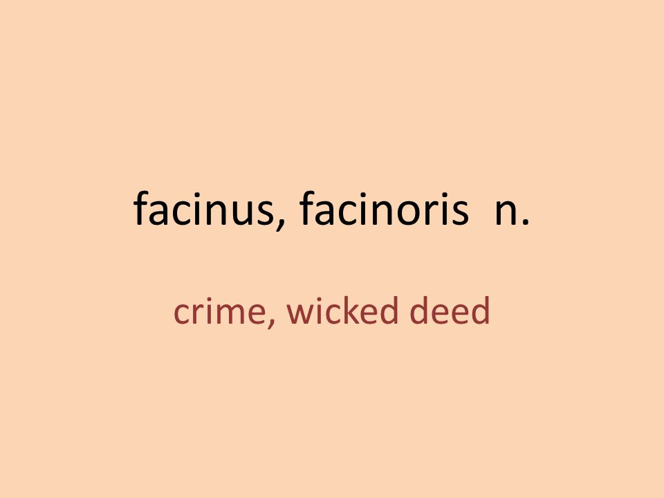 crime, wicked deed