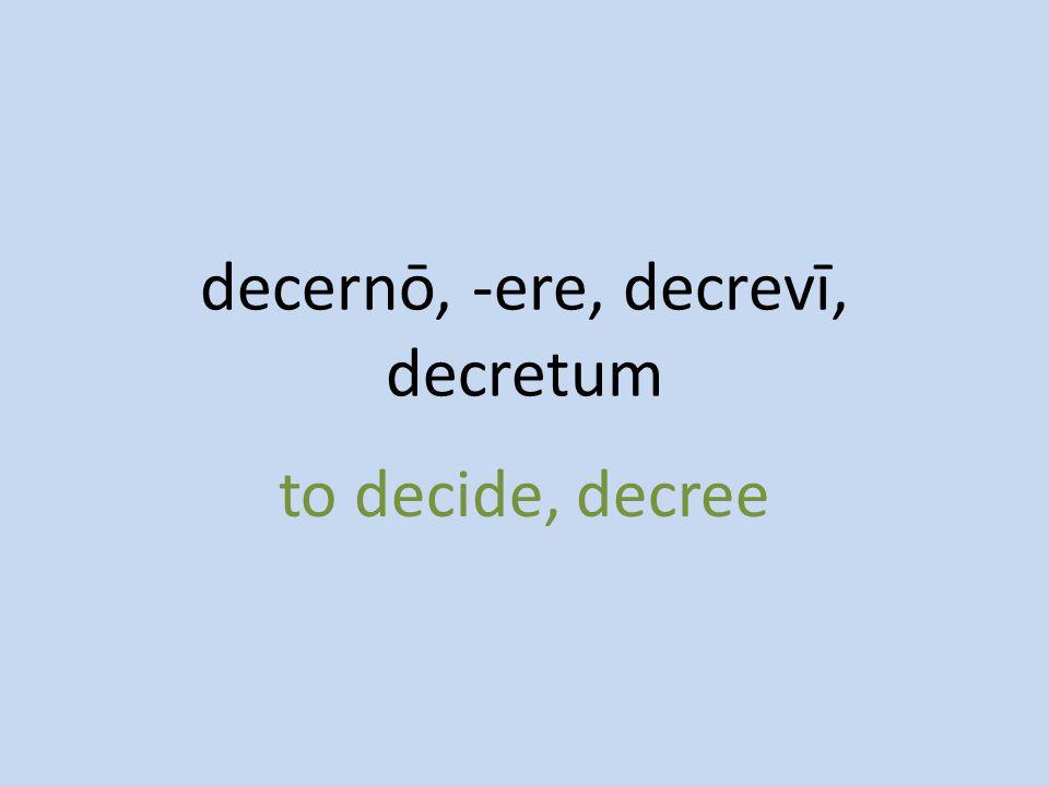 to decide, decree