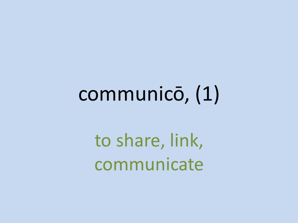 to share, link, communicate