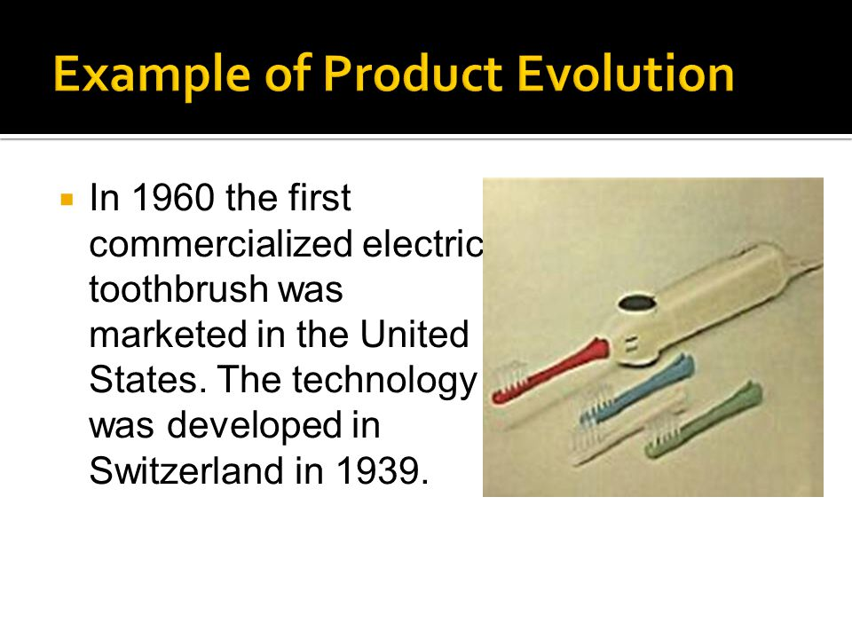 In 1960 the first commercialized electric toothbrush was marketed in the United States.