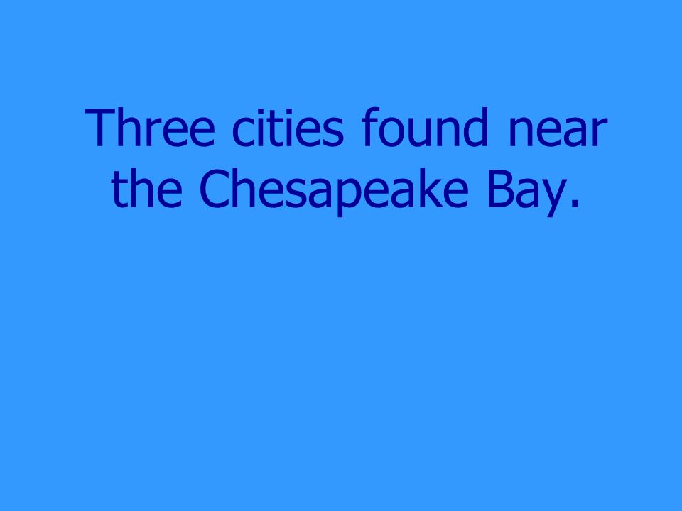 What is the Chesapeake Bay?