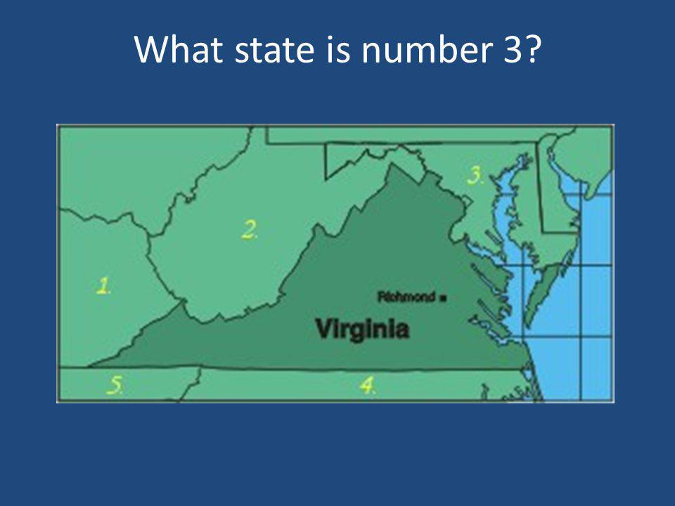 What state is number 3?