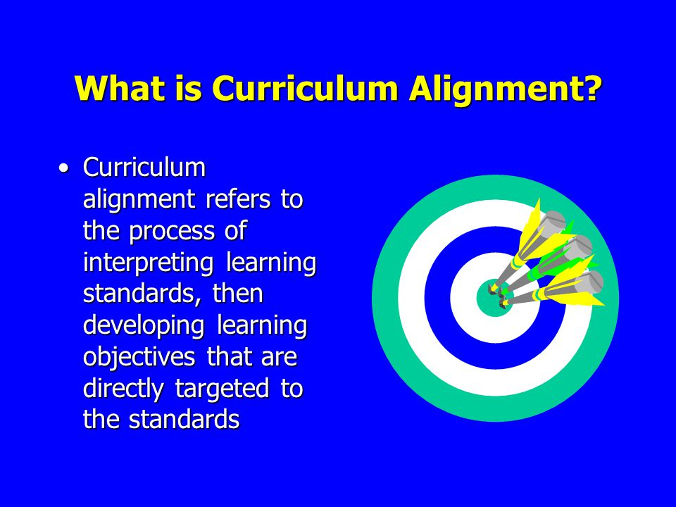 What is Curriculum Alignment.