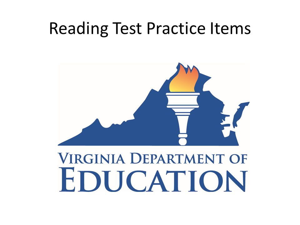 Reading Test Practice Items
