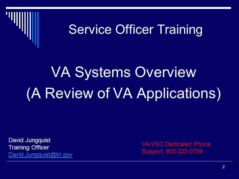 Purpose Of This Briefing Provide VBR's, VCS's and CSO's with the basic knowledge of available VA systems that will provide them with veteran claim information.