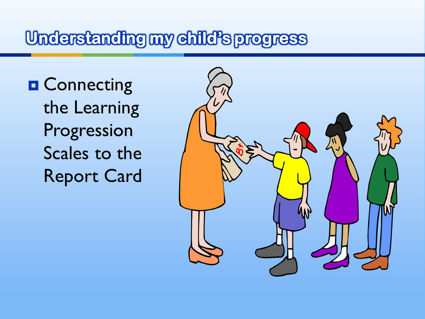  Connecting the Learning Progression Scales to the Report Card