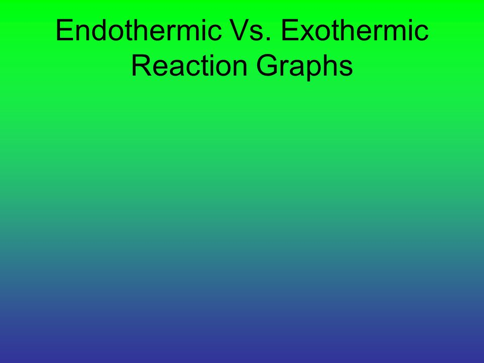 Endothermic Vs. Exothermic Reaction Graphs