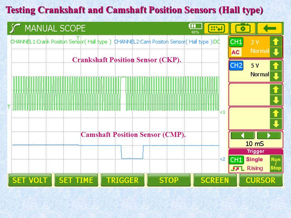Testing Crankshaft and Camshaft Position Sensors (Hall type) Crankshaft Position Sensor (CKP). Camshaft Position Sensor (CMP).