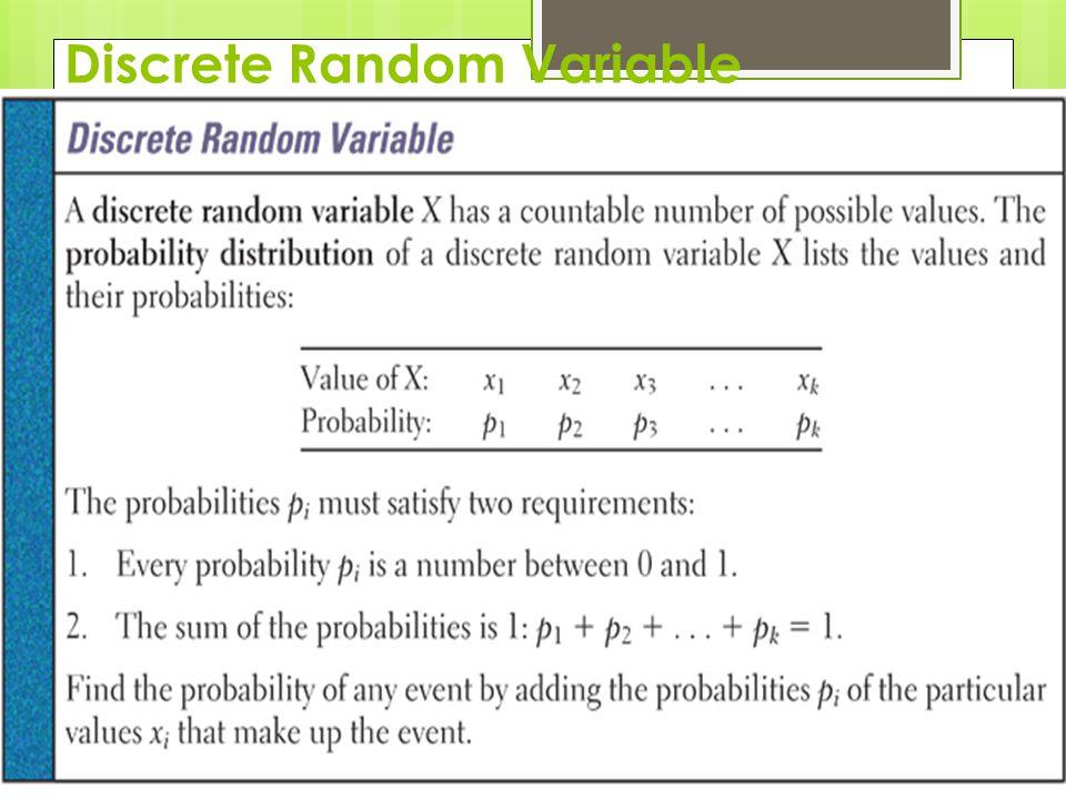 Discrete Random Variable