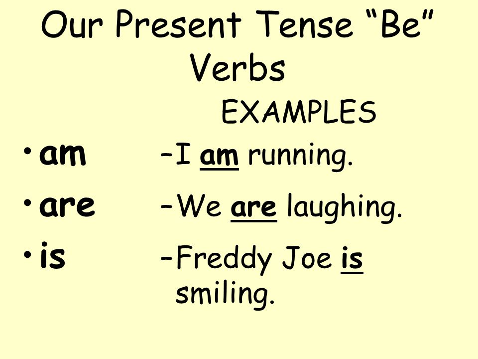 Example time Marvin was being silly. NOTE: with this example we are using two verbs, was and being. Normally when we write or say this, we get rid of