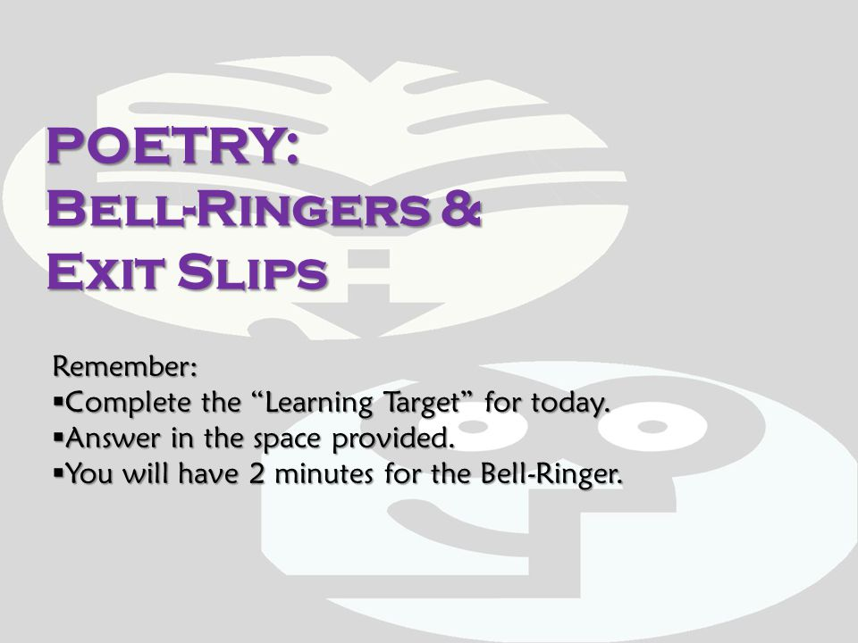 Bell-Ringer: 1-14-2012 1.A poem with no specific patterns of rhyme, rhythm, or structure.1.A poem with no specific patterns of rhyme, rhythm, or structure.