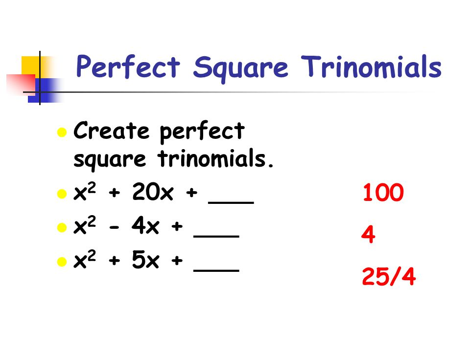 Solving Quadratic Equations by Completing the Square Solve the following equation by completing the square: Step 1: Only quadratic term and linear term on the left side of the equation