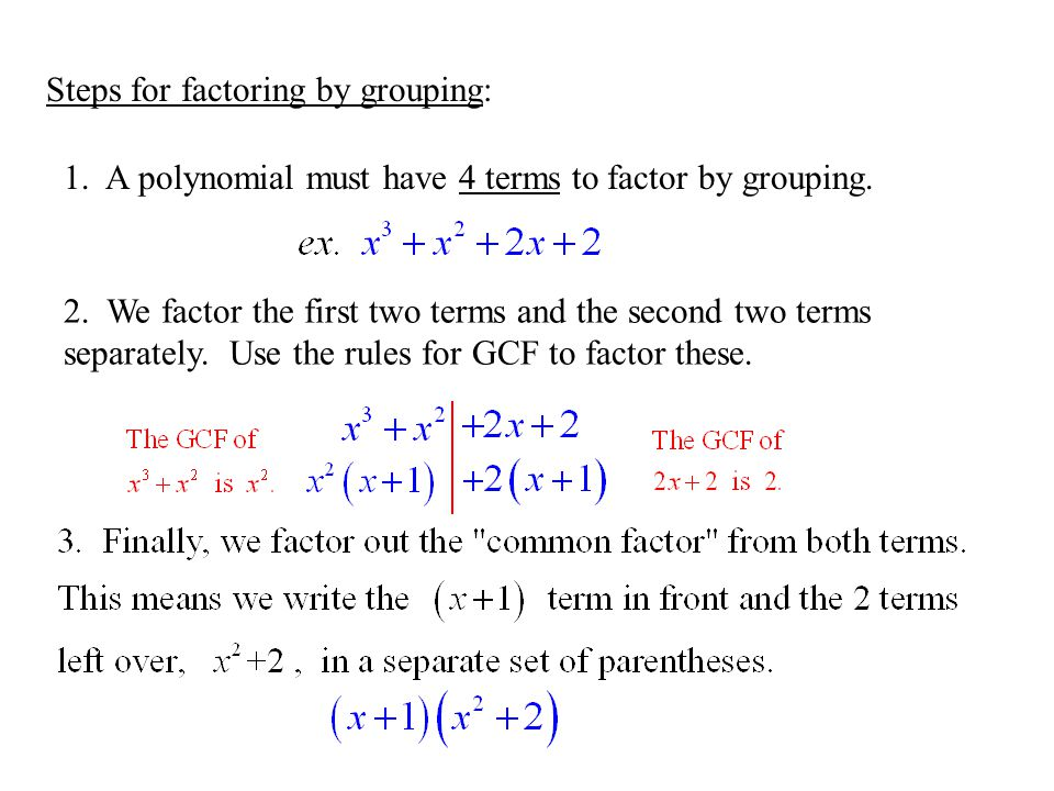 Printables Factoring By Grouping Worksheet 6 factoring by grouping assignment worksheet p 282 1 19 steps for a polynomial must have 4 terms to factor