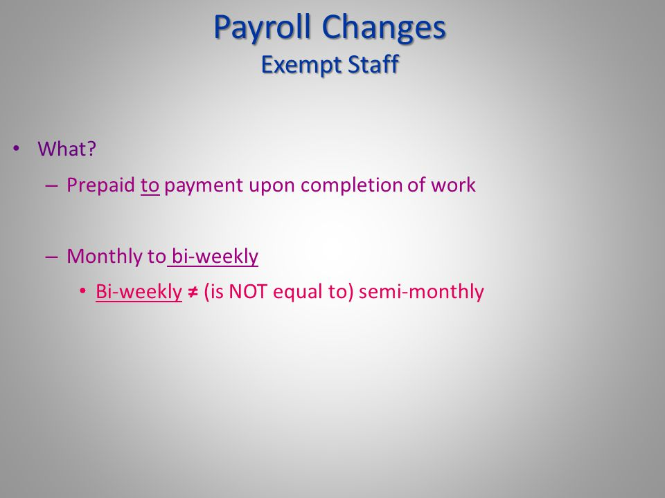 Draft of Pay Schedule - 12 month Exempt Staff