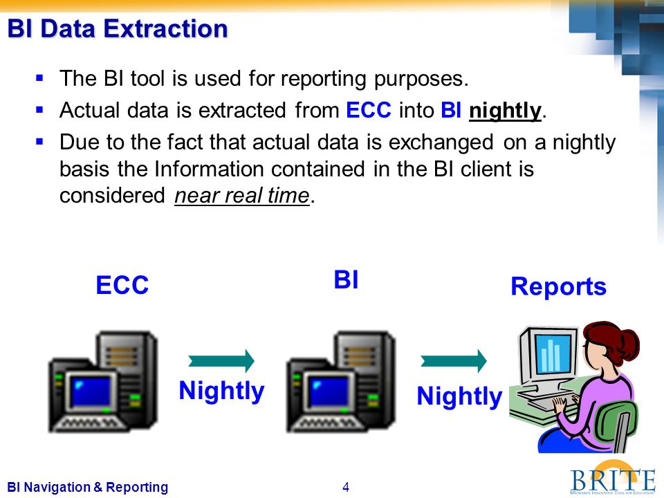 45BI Navigation & Reporting Information displayed in reports may be downloaded into an Excel spreadsheet and saved.