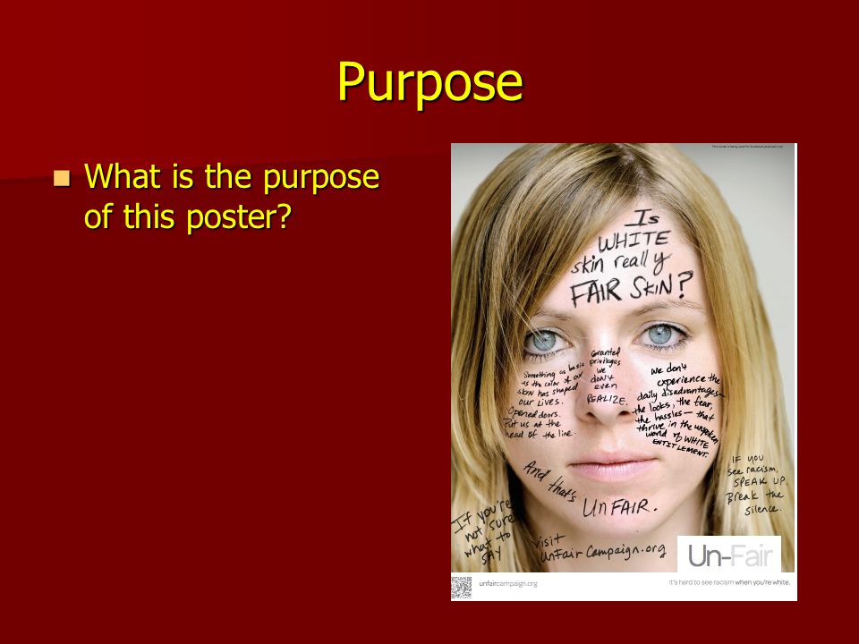 Purpose What is the purpose of this poster. What is the purpose of this poster.