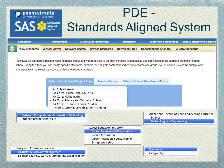 PDE - Standards Aligned System