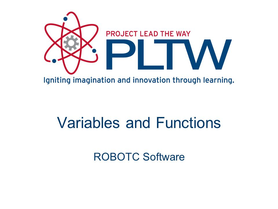 Variables and Functions ROBOTC Software