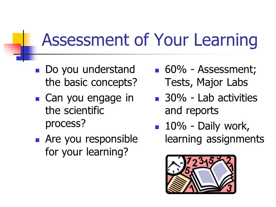 Assessment of Your Learning Do you understand the basic concepts.