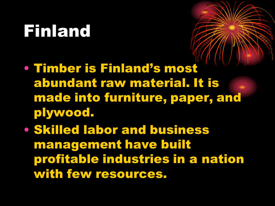 Finland Timber is Finland's most abundant raw material.