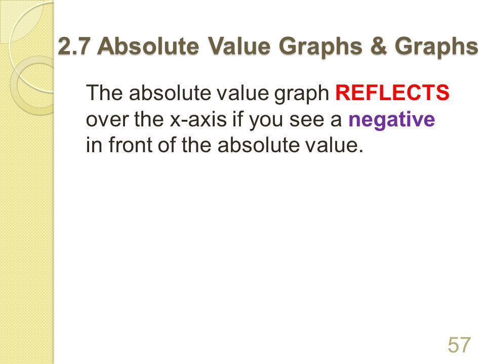 Assignment: p.111(#8 – 16, 53) For #8 – 16, do not make a table of values.