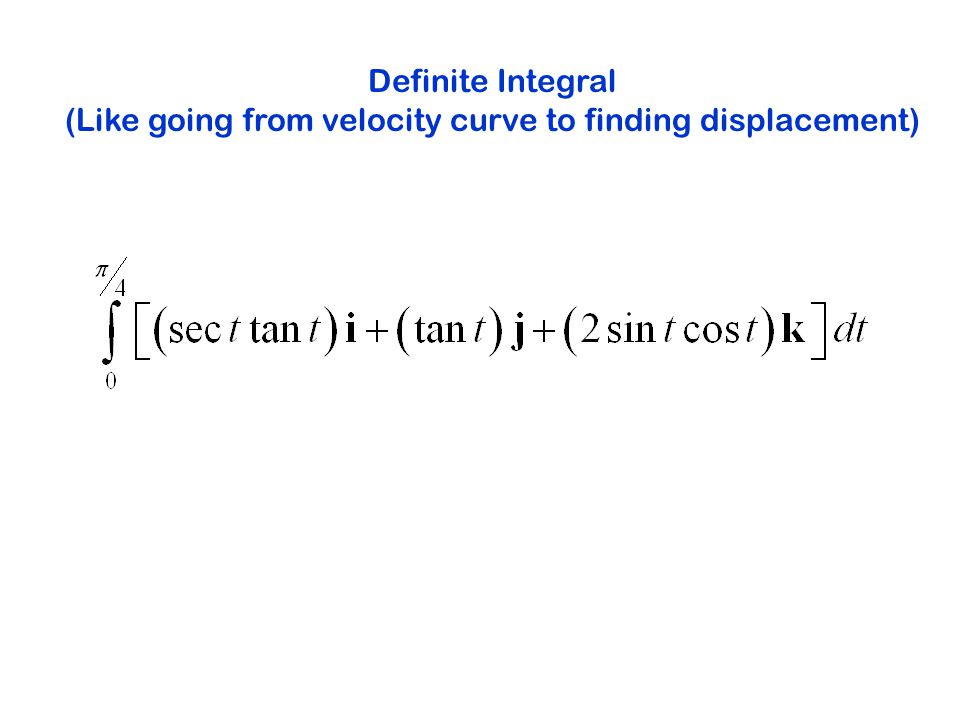 Definite Integral (Like going from velocity curve to finding displacement)