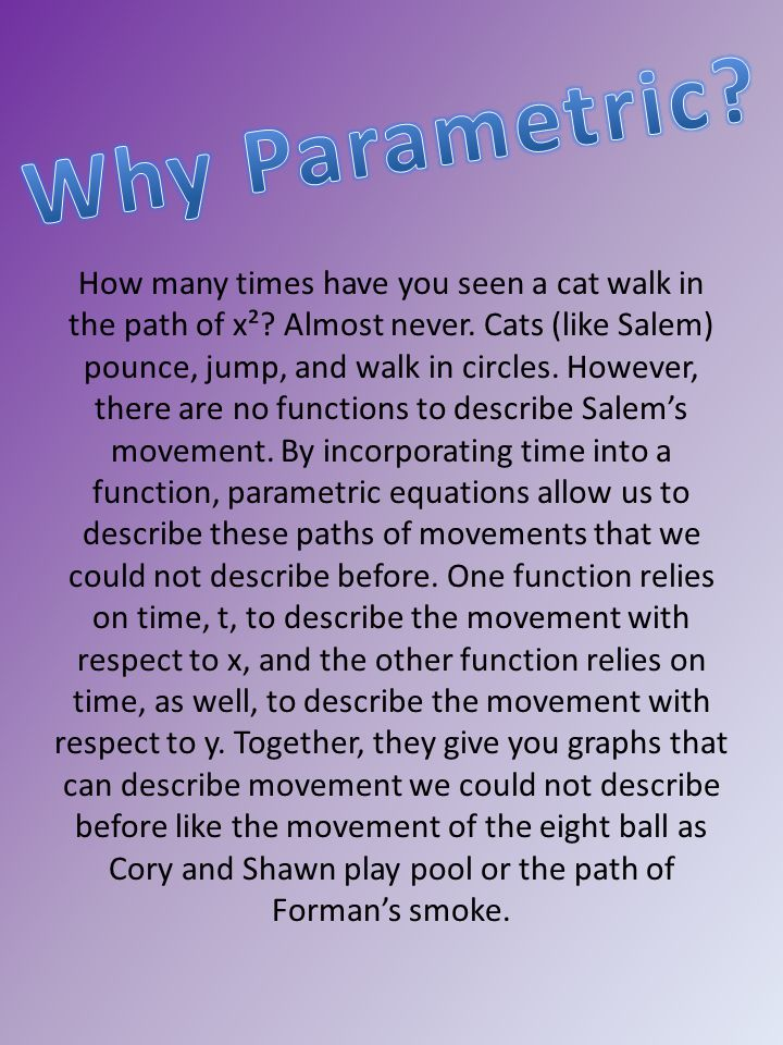 How many times have you seen a cat walk in the path of x².